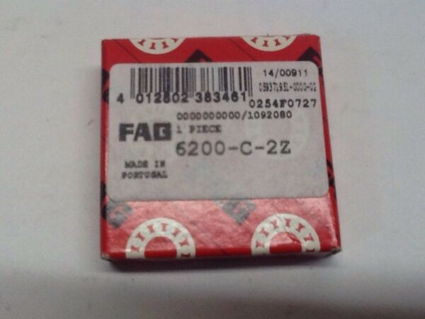 FAG 6200-C-2Z Bearing NOS