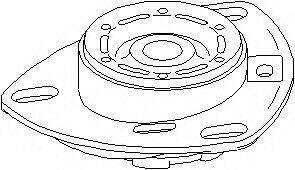 NEW 103 745 Topran Suspension Strut Support Bearing SABP3e24 OE REPLACEMENT
