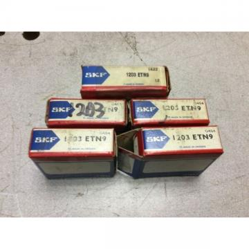 5-SKF-Bearing ,#1203-ETN9, FREE SHPPING to lower 48, NEW OTHER!