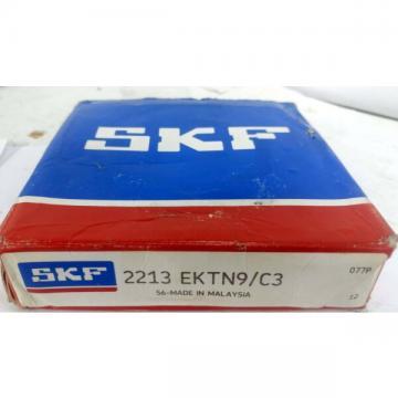 1 NEW SKF 2213 EKTN9/C3 SELF-ALIGNING BALL BEARING *SEALED* NIB ***MAKE OFFER***