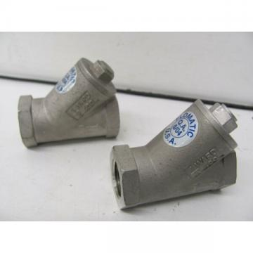 """LOT OF 2 DANFOSS FLOMATIC 1"""" STAINLESS STEEL Y VALVES 1/2 WARD 400 NEW(OTHER)"""